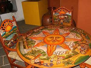 Michoacán.- Artesanías laqueadas